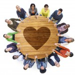 Group of People with Heart Shape